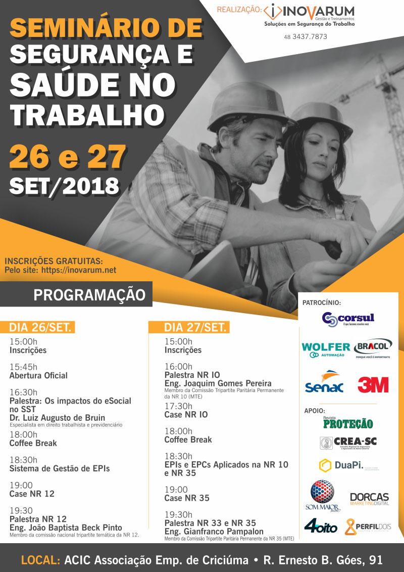 SEMINÁRIO DE SEGURANÇA E SAÚDE NO TRABALHO - WOLFER - Automação