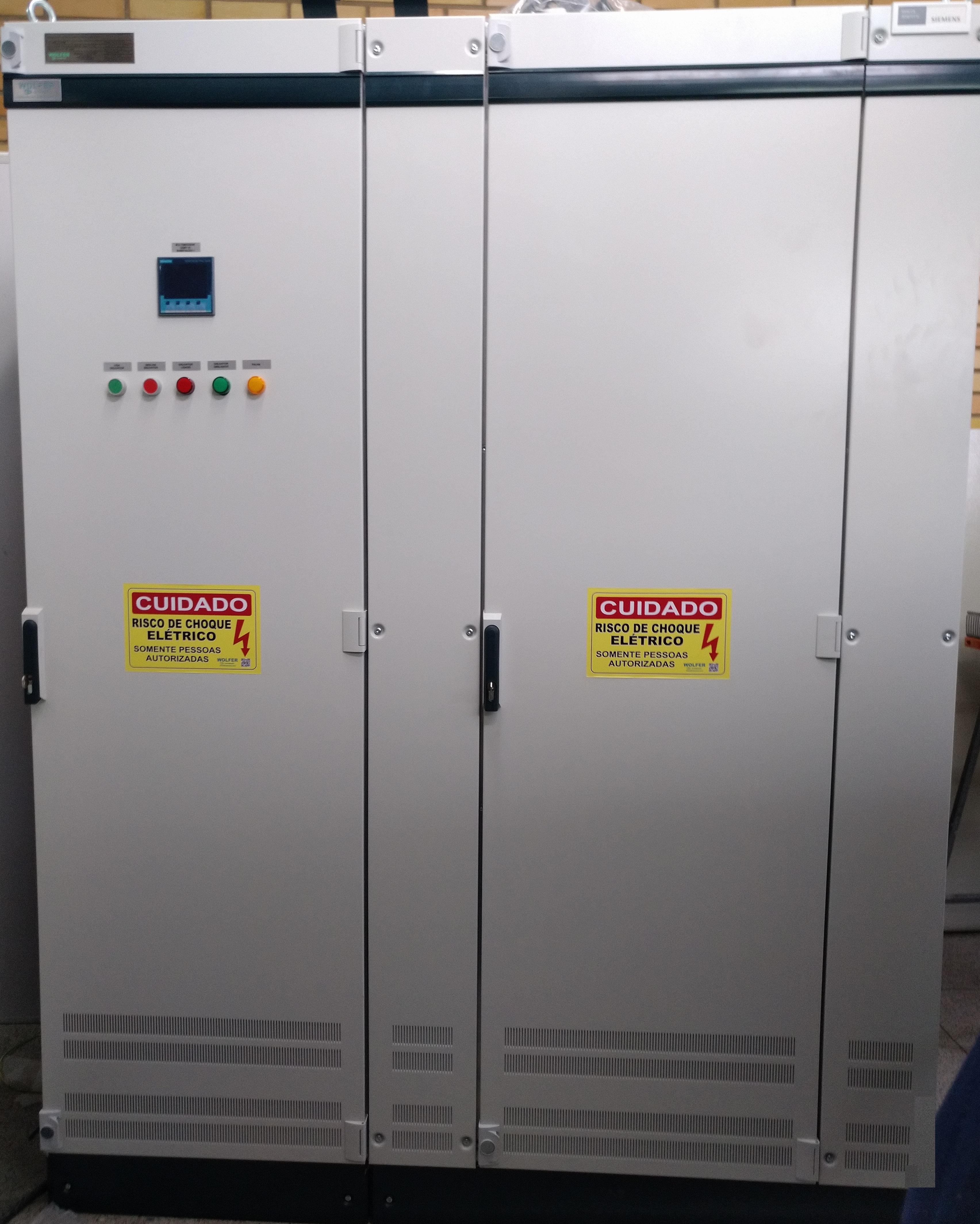 Painéis elétricos de baixa tensão certificados conforme norma ABNT NBR IEC 61439-1 - WOLFER - Automação